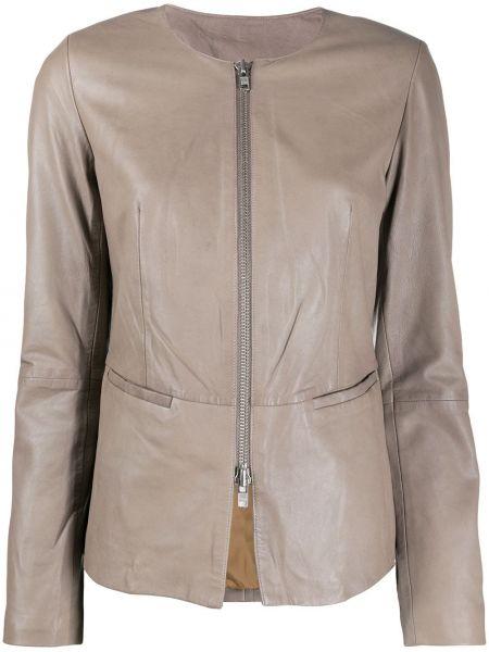 Серебряная длинная куртка круглая с круглым вырезом S.w.o.r.d 6.6.44