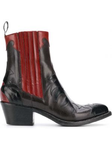 Kowboj buty czarne przeoczenie Sartore
