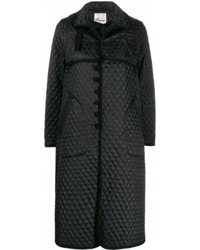 Черное длинное пальто с воротником с пряжкой Comme Des Garçons Noir Kei Ninomiya