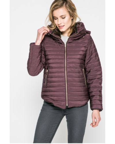 Стеганая куртка утепленная с капюшоном прямая Answear