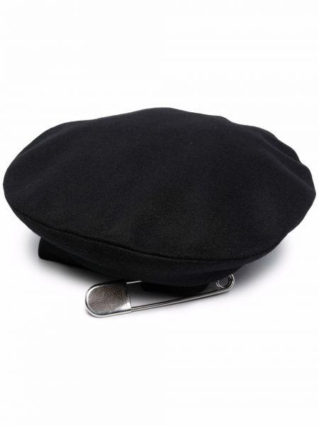 Czarny beret wełniany Charles Jeffrey Loverboy