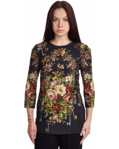 Черный джемпер из вискозы Dolce & Gabbana