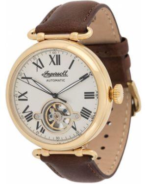 С ремешком кожаные коричневые часы механические круглые Ingersoll Watches