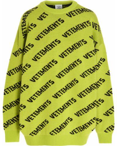 Sweter - żółty Vetements