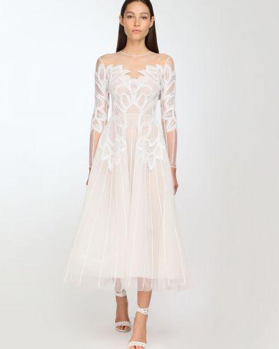 Платье миди из фатина с пайетками Zuhair Murad