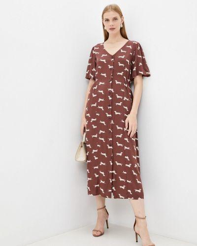 Прямое платье - коричневое Ichi