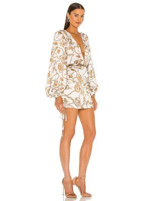Klasyczna biała sukienka mini z jedwabiu Bronx And Banco