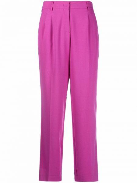 Różowe spodnie z wiskozy Blanca Vita