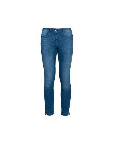 Синие хлопковые джинсы Luisa Spagnoli