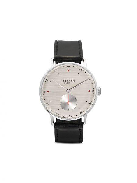 Кожаные часы - серебряные Nomos Glashütte