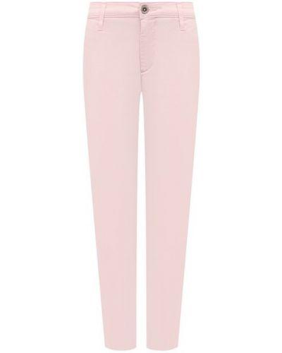 Хлопковые розовые брюки Ag