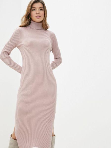 Платье вязаное розовое Sela