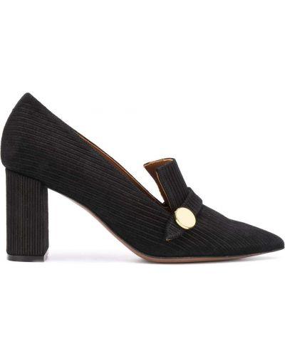 Черные кожаные туфли-лодочки на каблуке L'autre Chose