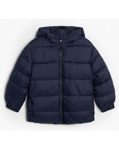 Теплая синяя куртка Mango Kids