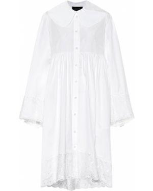 Хлопковое платье мини - белое Simone Rocha