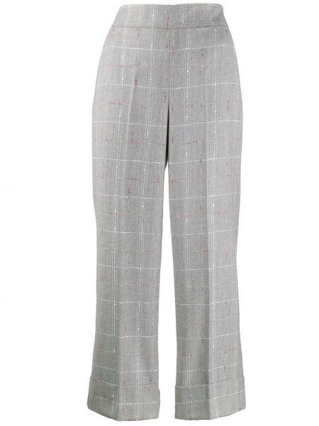 Укороченные брюки в клетку с карманами Incotex
