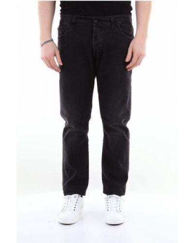 Czarne spodnie zapinane na guziki Messagerie