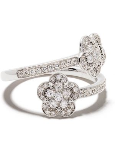 Pierścień biały ze złota Pasquale Bruni