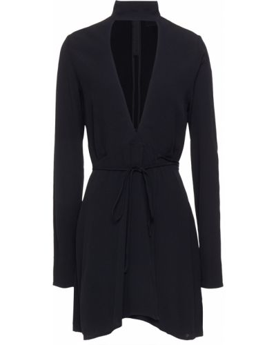 Платье мини с вырезом - черное Reformation