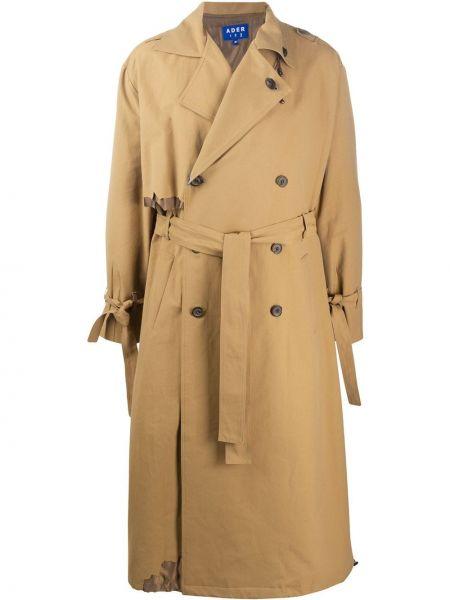 Długi płaszcz z kieszeniami beżowy Ader Error