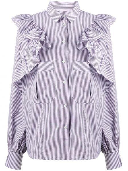 Прямая классическая рубашка с воротником на пуговицах с оборками Frenken