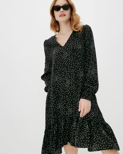 Прямое черное платье Mbym