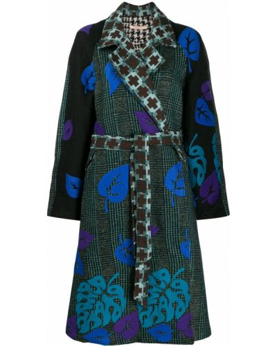 Коралловое шерстяное длинное пальто с поясом с рукавом реглан Ermanno Gallamini