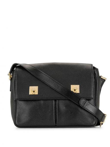 Золотистая черная сумка через плечо на молнии с карманами Céline Pre-owned