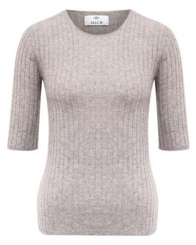 Бежевый кашемировый пуловер Allude