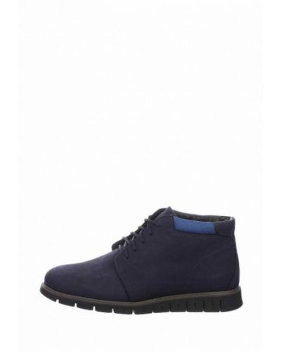 Ботинки из нубука - синие Faber