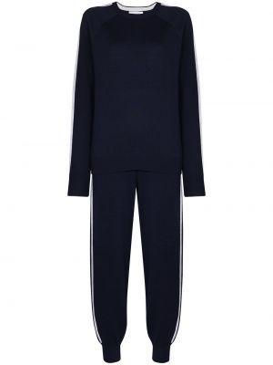 Кашемировый синий спортивный костюм эластичный Olivia Von Halle