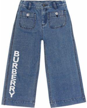 Jeansy z logo bezpłatne cięcie Burberry Kids