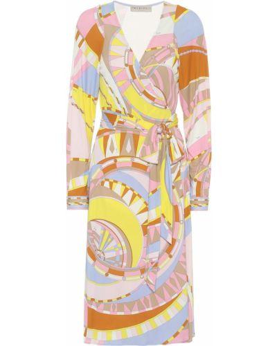 Желтое шелковое платье Emilio Pucci