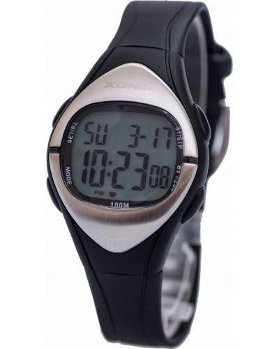 Czarny zegarek sportowy silikon Xonix
