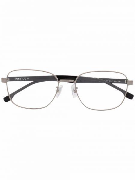 Okulary srebrne - czarne Boss Hugo Boss