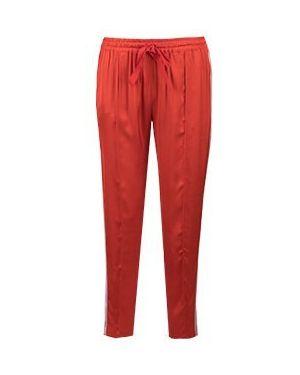 Укороченные брюки красный Semicouture