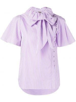 Блузка с короткими рукавами - фиолетовая Adam Lippes