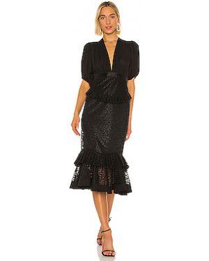 Платье миди шифоновое с вышивкой Alexis