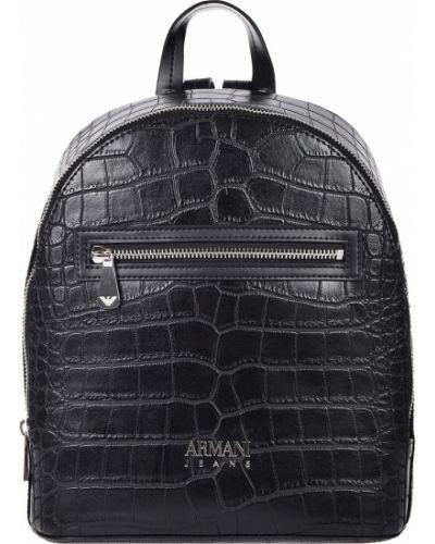 Рюкзак на молнии черный Armani Jeans