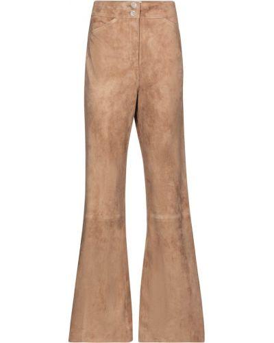 Расклешенные коричневые кожаные брюки Dorothee Schumacher
