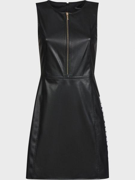 Черное платье на молнии с подкладкой Armani Exchange
