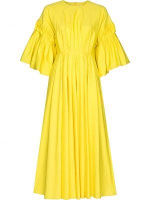 Żółta sukienka midi bawełniana Roksanda