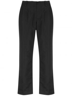 С рукавами черные укороченные брюки с поясом круглые Uma   Raquel Davidowicz