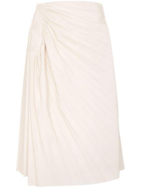 Плиссированная юбка миди с завышенной талией Low Classic
