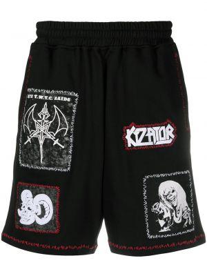 Czarne szorty bawełniane Ktz