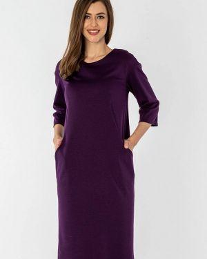 Повседневное платье осеннее фиолетовый S&a Style