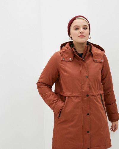 Теплая коричневая куртка Zizzi