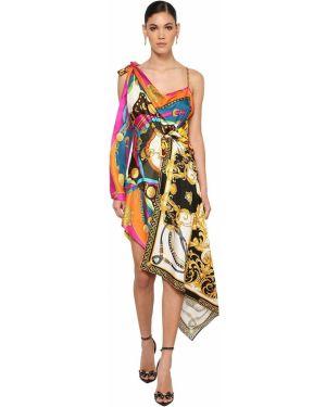 Деловое платье на бретелях через плечо Versace