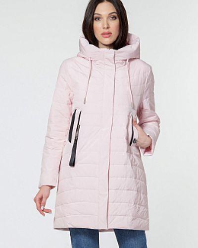 Пальто с капюшоном - розовое Winterra