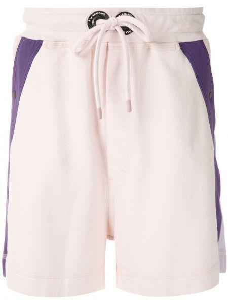 Прямые розовые спортивные шорты с карманами à La Garçonne